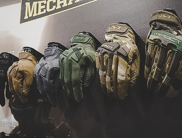 Mechanix Impact Gloves Line Up Shot Show 2019
