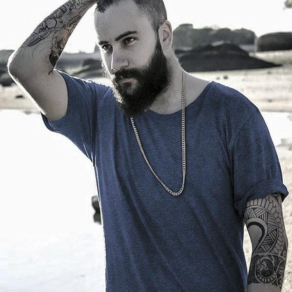 Medium Beard With Short Hair Style Ideas For Gentlemen