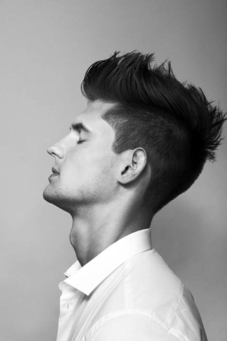 Medium Faux Hawk Haircut For Men