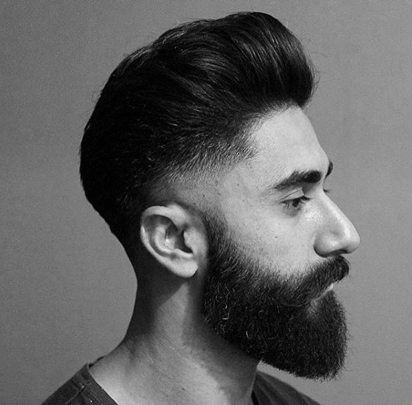 Medium Hair Cuts For Guys With Beards