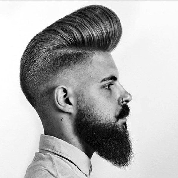 Medium Hairstyles For Men With Wavy Hair Pompadour