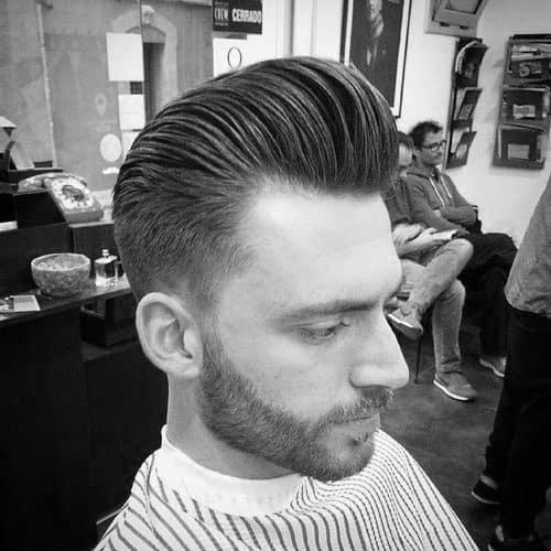 Medium Length Guys Pompadour Hair