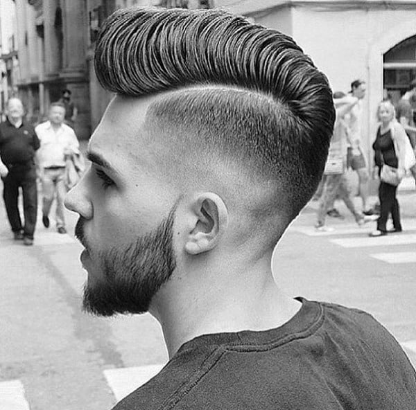 Medium Length Hair Cuts For Men Hard Part
