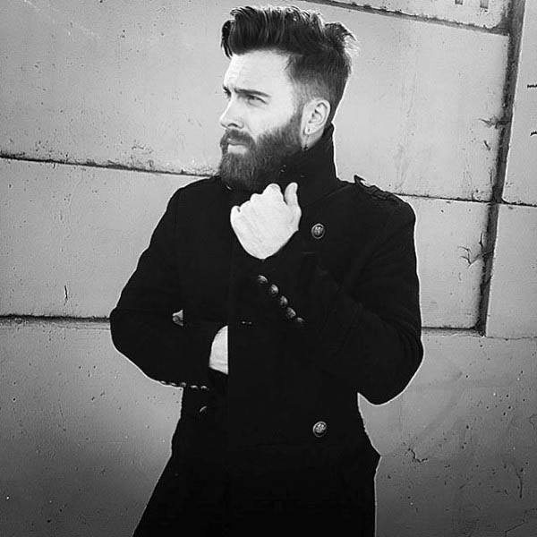 Medium Length Hairstyles For Men With Thick Hair Side Fade