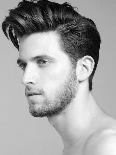 Medium Length Men's Side Part Hair