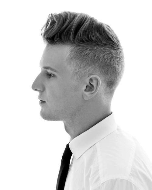 Medium Long Buzzed Sides Mens Old School Hairstyle
