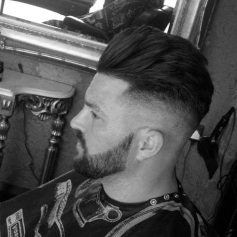 Medium Long Length Guys Haircut With High Skin Fade