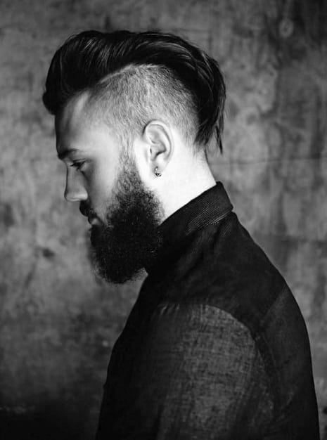 Medium To Long Undercut Haircut For Guys