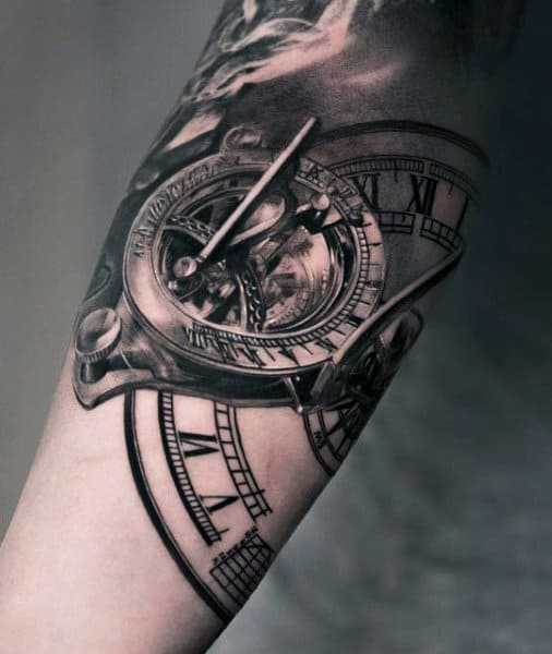 80 clock tattoo designs for men timeless ink ideas