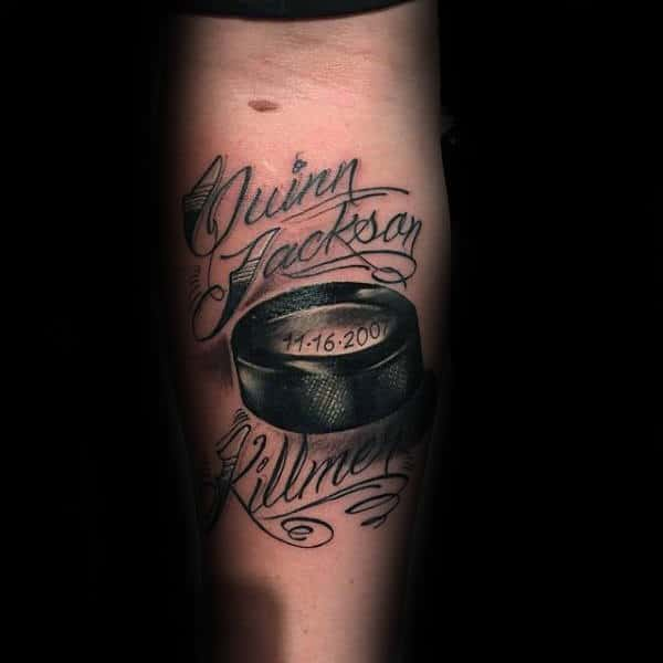 Memorial Mens Hockey Inner Forearm Tattoo
