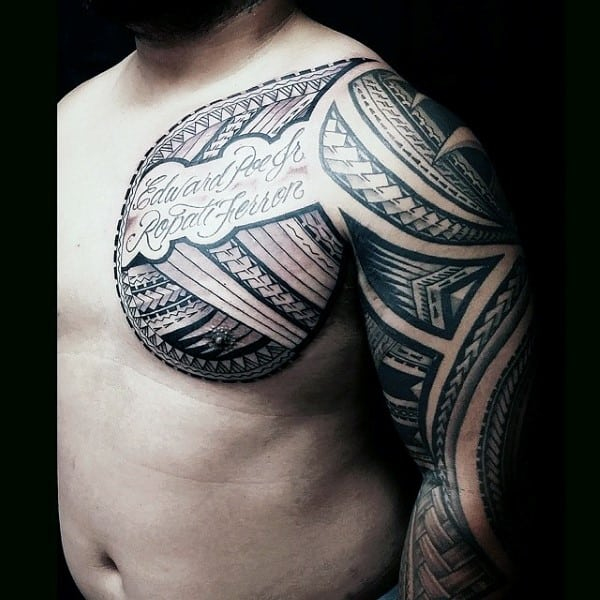 Memorial Mens Samoan Chest And Sleeve Tatotos