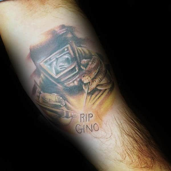 Memorial Mens Welding Tattoos On Forearm