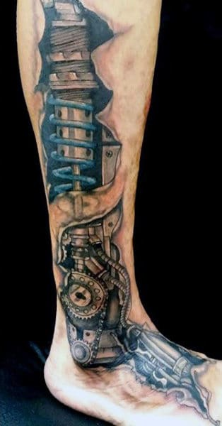 Men 3D Tattoo Shock