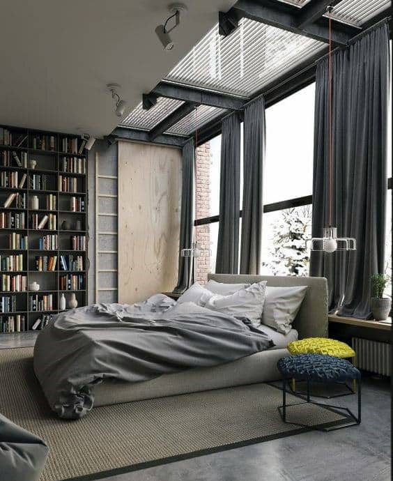 Men Bedroom Bachelor Pad Design Inspiration