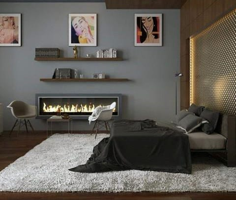 Men Bedroom Colors With Grey Painted Walls And Color Scheme