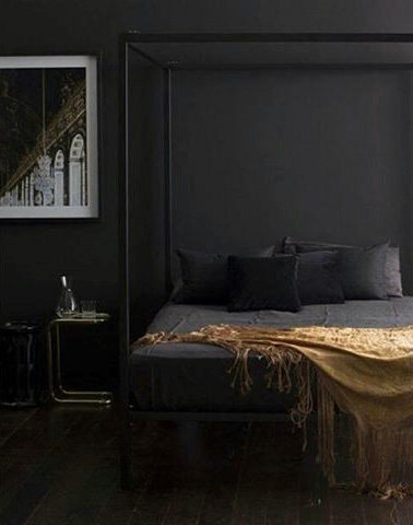Men Bedroom Design Black Colors