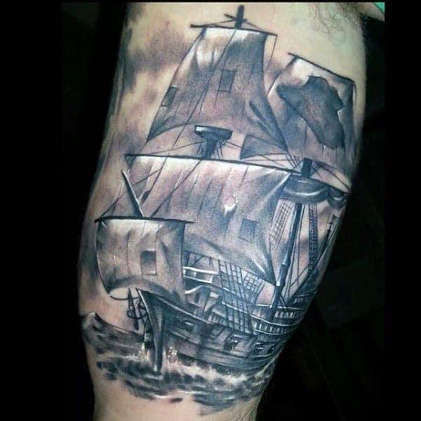 Men Bicep Tattoos Ship