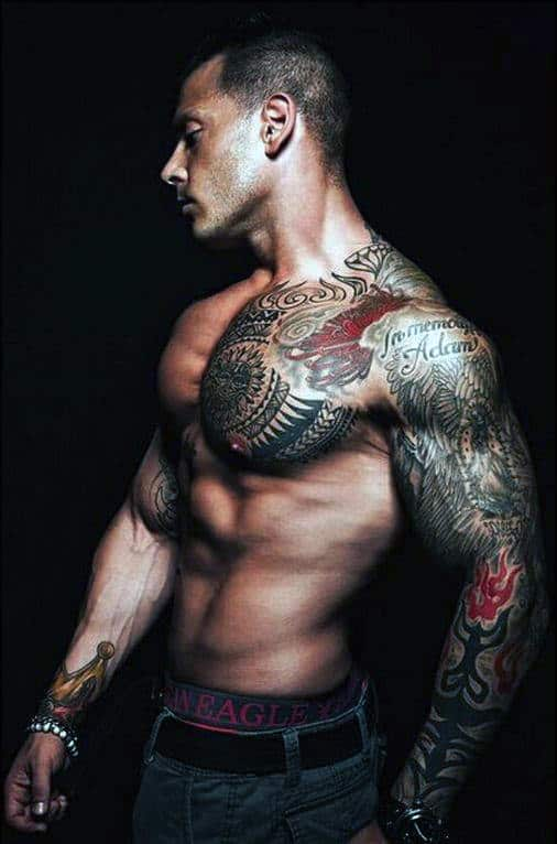 Men Chest Piece Tattoos
