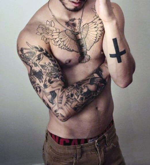 men-cross-tattoo