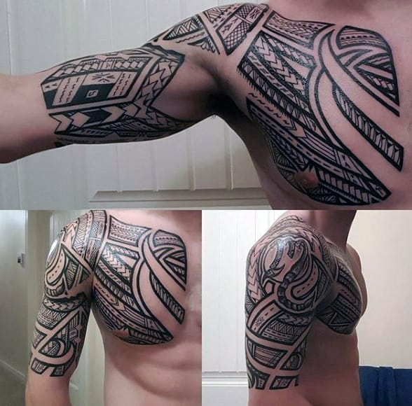 Men Half Sleeve Tattoo