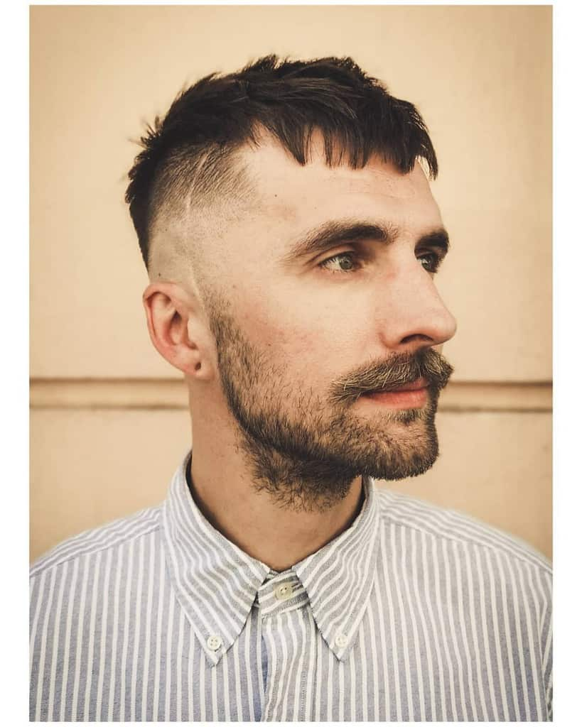 Bald Fade With Soft Short Fringe