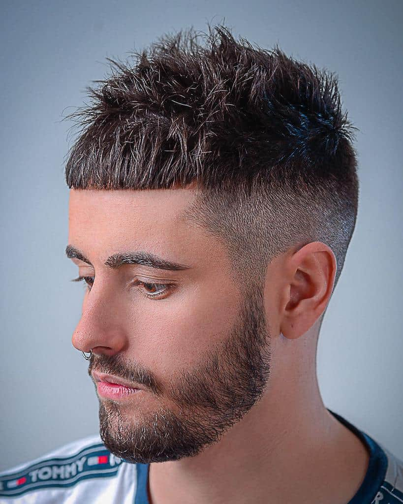 Bald Fade with Textured Crown