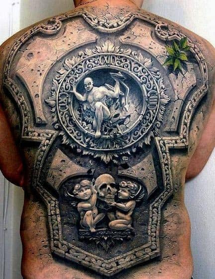 Men's 3D Back Tattoo Design Ideas