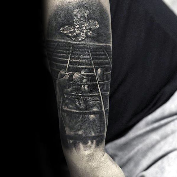 Mens 3d Gate Wire With Poker Chip Tattoo Design Ideas On Arm