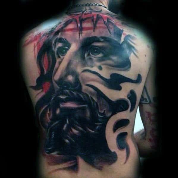 Mens 3d Jesus Tattoo Design Ideas