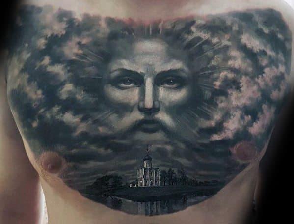 Mens 3d Jesus Tattoo