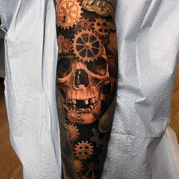 Men's 3D Mechanical Tattoos