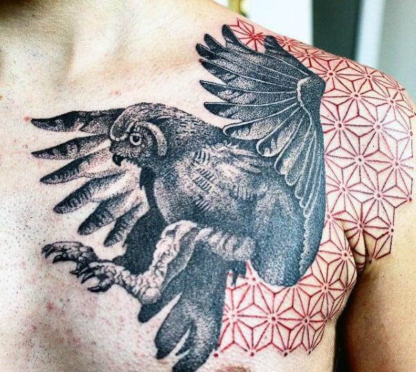 Men's 3D Bird Tattoos