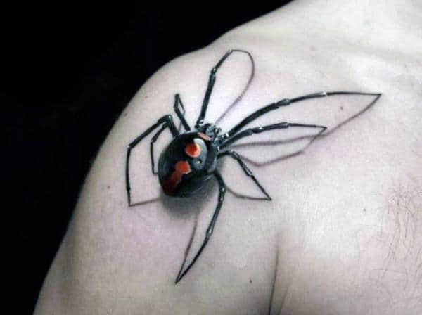 Men's 3D Spider Tattoos