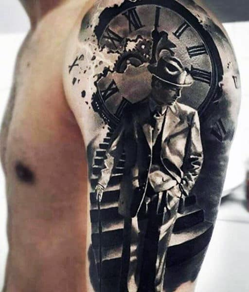 Men's 3D Star Tattoo