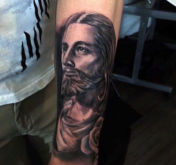Mens Religious Jesus Tattoo