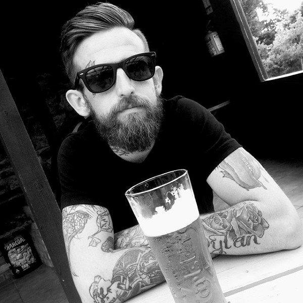 90 face tattoos for men masculine design ideas for Eyebrow tattoo men