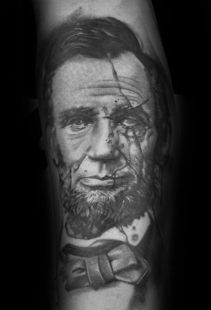 Mens Abraham Lincoln Tattoo Forearm Design Inspiration