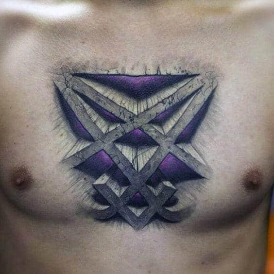 30 Heartagram Tattoo Designs For Men Symbolic Ink Ideas