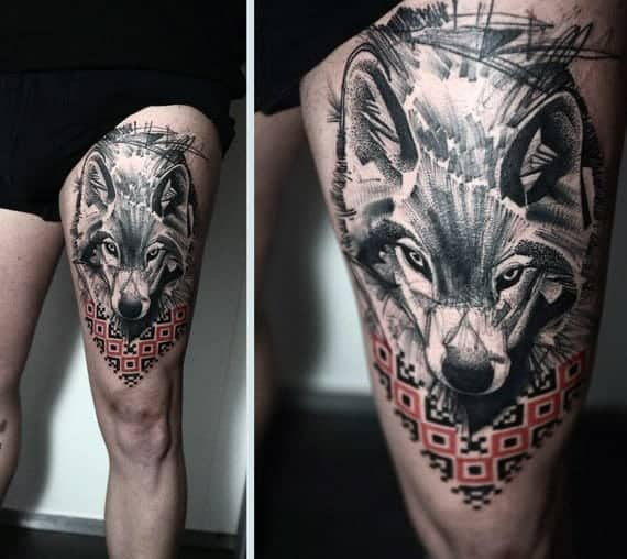 mens-abstract-wolf-upper-thigh-tattoo-design
