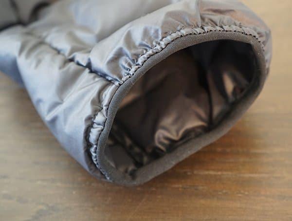 Mens Adidas Lite Down Hoodie Sleeve Detail