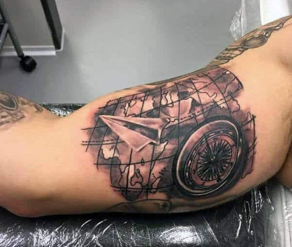 Men's Airplane Tattoo Ideas