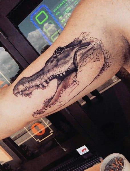 Mens Alligator Tattoo On Arms