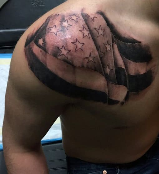 Top 60 Best American Flag Tattoos For Men - USA Designs