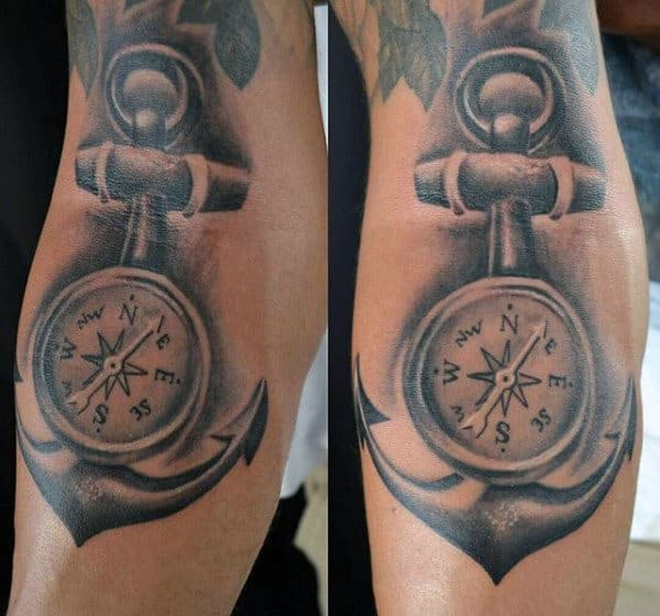 Men's Anchor Tattoo Designs