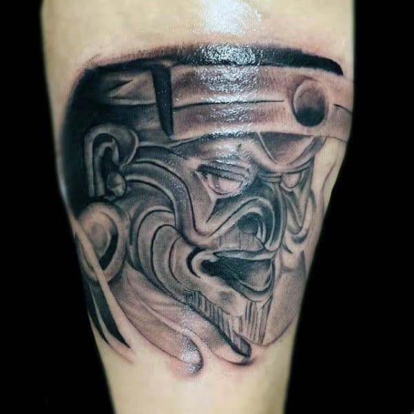 Mens Ancient Mayan God Arm Tattoo Design