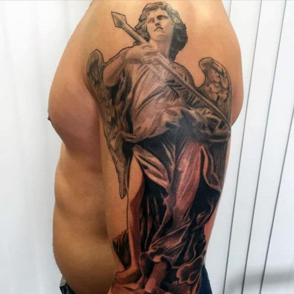 Men's Angel Back Tattoo