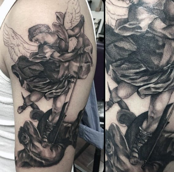Men's Angel Micheal Tattoo