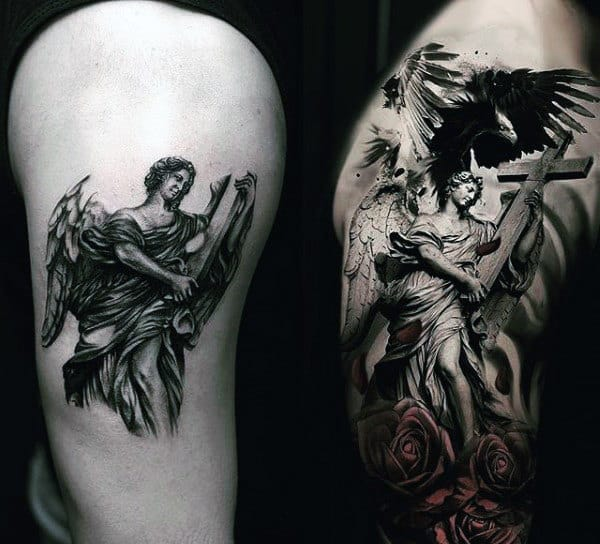 Men's Angel Tattoo Desgns