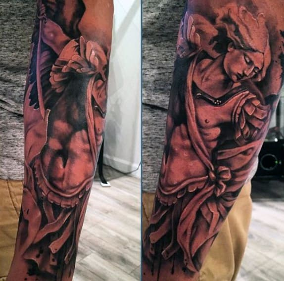 Men's Angel Tattoos Arm Sleeve