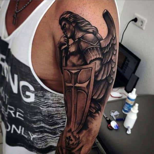 Men's Angel Tattoos Arms